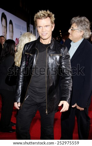 "09/11/2009 - Hollywood - Billy Idol at the World Premiere of ""Old Dogs"" held at the El Capitan Theater in Hollywood, California, United States.  - stock photo"
