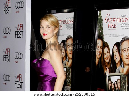 """03/11/2009 - Hollywood - Drew Barrymore at the AFI FEST 2009 Screening of """"Everybody's Fine"""" held at the Grauman's Chinese Theater in Hollywood, California, United States.  - stock photo"""