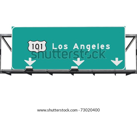 101 Hollywood Freeway in Los Angeles California. - stock photo