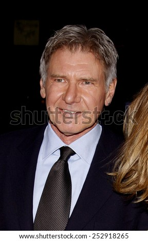 "19/1/2010 - Hollywood - Harison Ford at the Los Angeles Premiere of ""Extraordinary Measures"" held at the Grauman's Chinese Theater in Hollywood, California, United States."