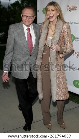 """04/22/2006 - Hollywood - Larry King and Shawn Southwick-King attend the opening of """"The Children's Collection"""" held at the Junior Arts Center Gallery at Barnsdall Park in Hollywood, United States.  - stock photo"""
