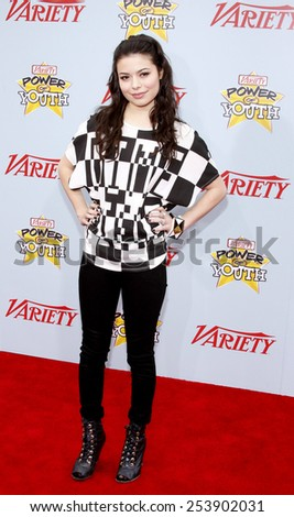 05/12/2009 - Hollywood - Miranda Cosgrove at the Variety's 3rd Annual Power of Youth Event held at the Paramount Pictures Studios in Hollywood, California, United States.  - stock photo
