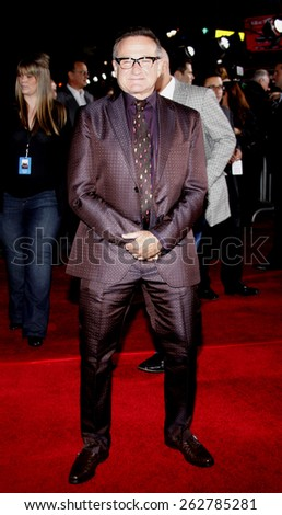 "09/11/2009 - Hollywood - Robin Williams at the World Premiere of ""Old Dogs"" held at the El Capitan Theater in Hollywood, California, United States.  - stock photo"