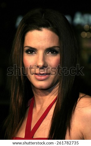 """03/23/2005 - Hollywood - Sandra Bullock at the """"Miss Congeniality 2: Armed and Fabulous"""" Premiere at the Chinese Theatre. - stock photo"""