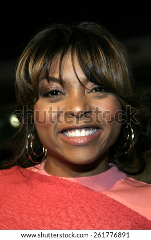 """03/23/2005 - Hollywood - Taraji P. Henson at the """"Miss Congeniality 2: Armed and Fabulous"""" Premiere at the Chinese Theatre. - stock photo"""