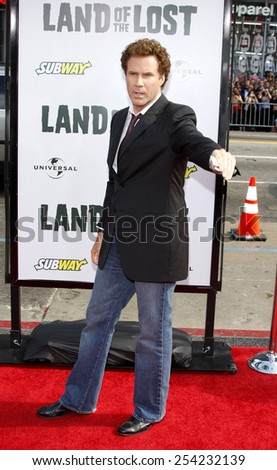 "30/5/2009 - Hollywood - Will Ferrell at the Los Angeles Premiere of ""Land of the Lost"" held at the Grauman's Chinese Theater in Hollywood, United States.  - stock photo"