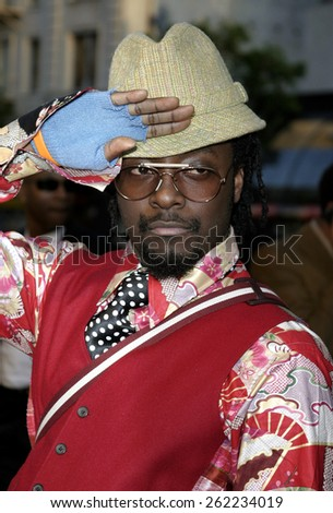 "04/04/2005 - Hollywood - Will.I.Am at the ""Sahara"" Premiere at the Grauman's Chinese Theater. - stock photo"