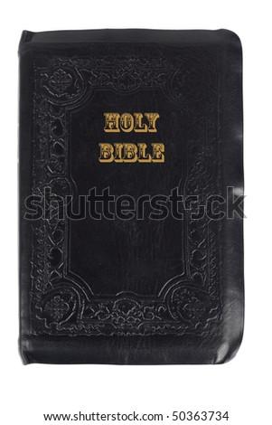 Holy bible isolated on white background - stock photo