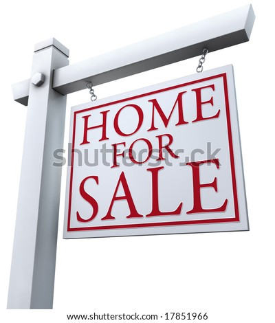 'Home for Sale' sign - stock photo