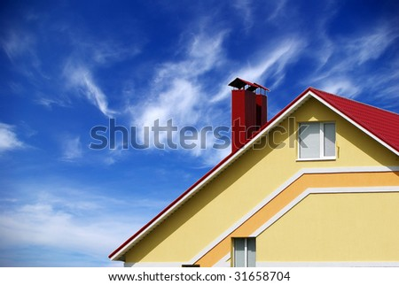 home on sky - stock photo