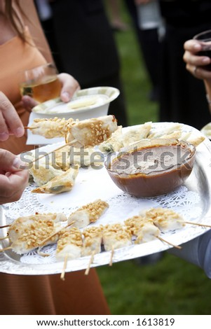 Hors d'oeuvres are served - stock photo