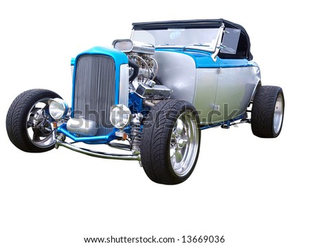 1932 Hotrod isolated with clipping path - stock photo