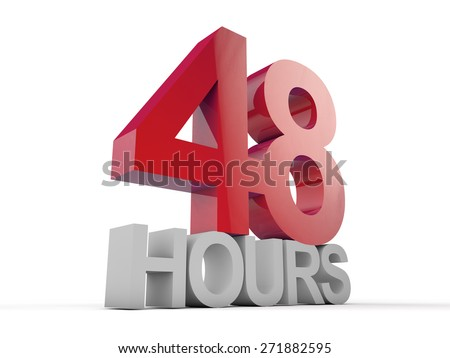 48 Hours over white background - stock photo