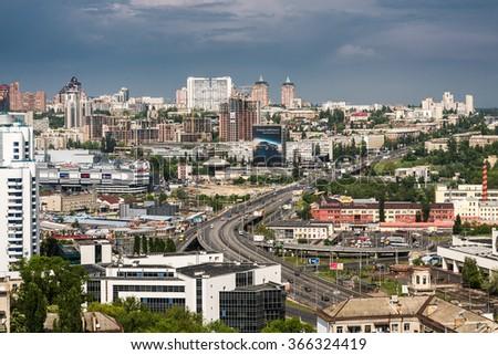 12.07.2014. Housing estate. Kyiv, Ukraine. Moscow area - stock photo