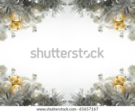 ?hristmas background with baubles - stock photo