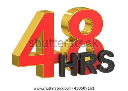 48hrs concept, 3D rendering isolated on white background - stock photo