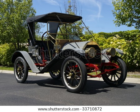1909 Hudson Roadster restored to mint condition. - stock photo