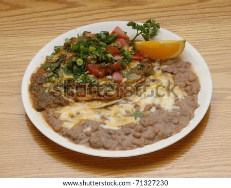 """Huevos Rancheros"" Mexican breakfast - stock photo"