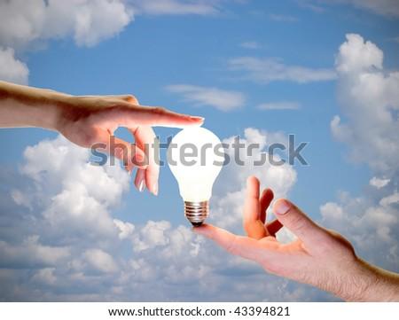 human energy - stock photo