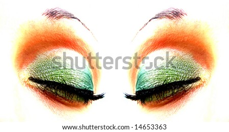 human eyes - stock photo