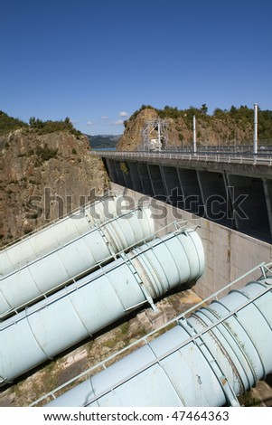 Hydro-electric Power Station pipes