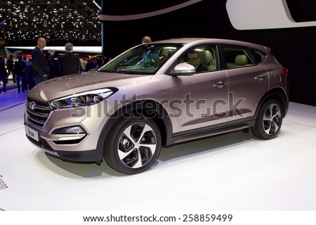 2016 Hyundai Tucson  presented the 85th International Geneva Motor Show on March 3, 2015 in Palexpo, Geneva, Switzerland