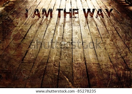 """I AM THE WAY"" Religious Background - stock photo"