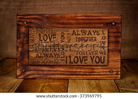 """""""I LOVE YOU""""  Abstract Background Great for Valentine's Day - stock photo"""