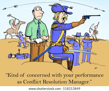 """I'm concerned with your performance as Conflict Resolution Manager."" - stock photo"