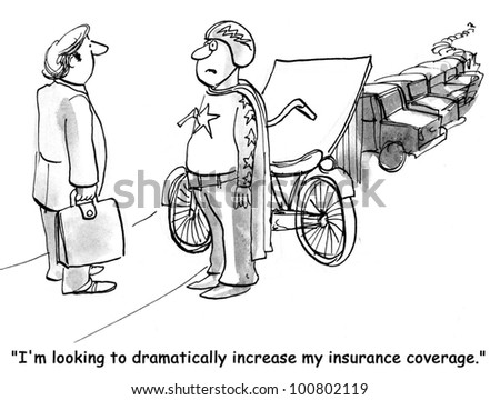'I'm looking to increase my insurance coverage' - stock photo