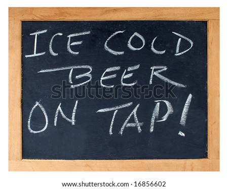 """""""Ice Cold Beer on Tap"""" Sign - stock photo"""