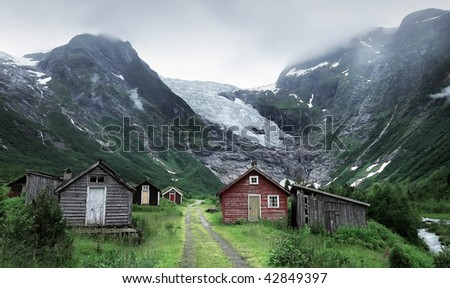 """Ice in mountains"" - stock photo"