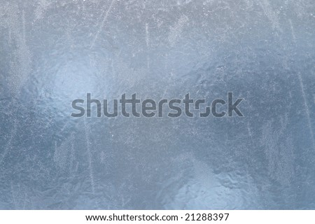Ice on window,winter icy patterns,icy drawings - stock photo