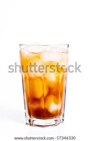 Iced tea isolated on white