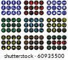 108 Icon collection arranged in various categories - stock photo