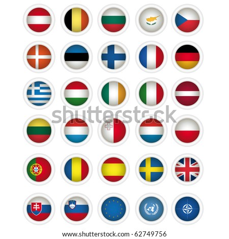 icons with flags, illustration. Vector format is also available in my gallery. - stock photo