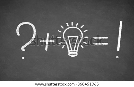 idea of incandescent light bulb drawn on black chalkboard. concept - stock photo