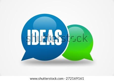 IDEAS word on speech cloud - stock photo