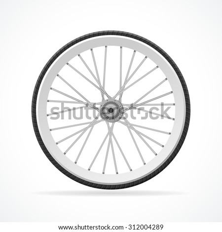 illustration Bicycle Wheel isolated on a white background.