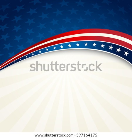 illustration Independence Day patriotic background star pattern. - stock photo