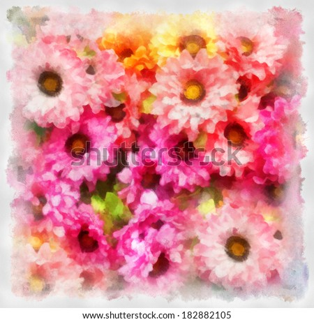 illustration of  flowers   - stock photo