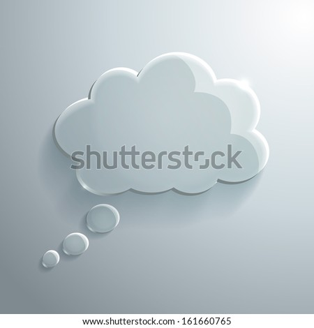 Illustration of Glass Speech Bubble - stock photo