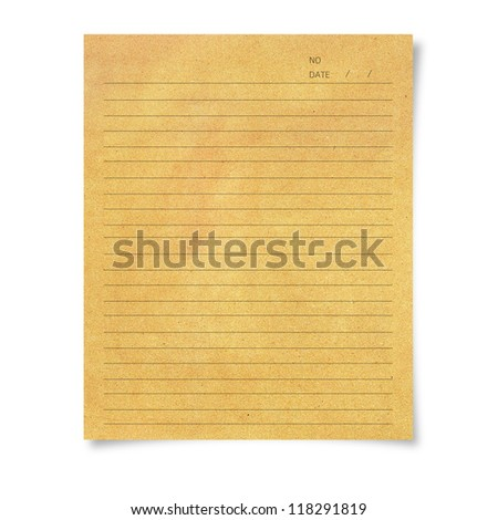illustration of recycle paper with line on white background