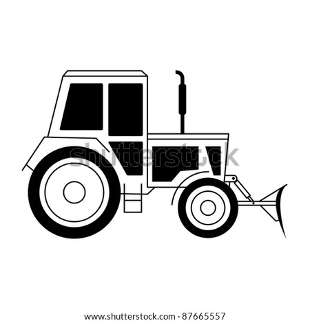illustration with a tractor