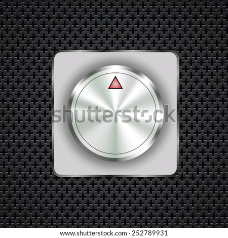 illustration  with control button on dark perforated background