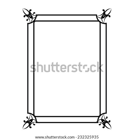 illustration with decorative frame  on a white background