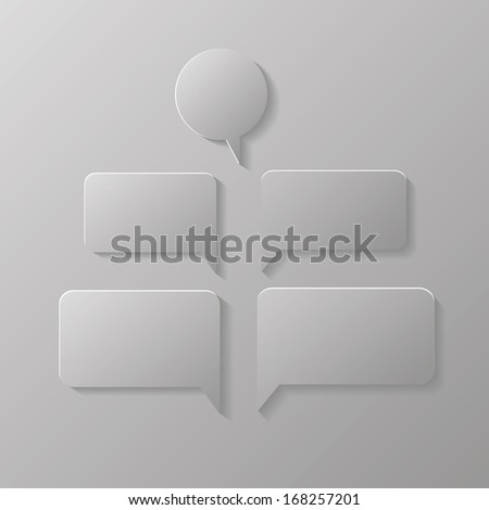 illustration with speech bubbles  for your design - stock photo