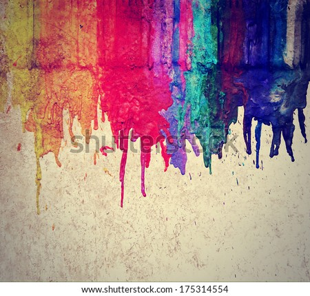 Image From Color And Texture Background Series Melted Coloring Crayons Good For Back To