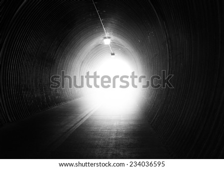 image from exterior background series (dark tunnel)  - stock photo