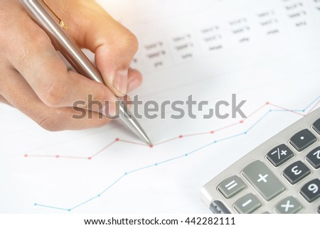 image of calculator and chart